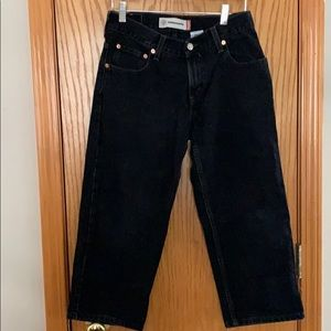 Black Levi's Jeans 550 Relaxed Fit Husky 28 x 23